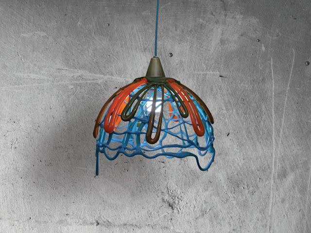 Amorph Lamp: Recycled Plastic Lamps By Frozen Plastic Studio