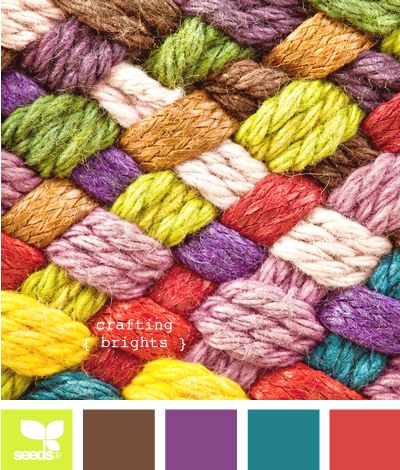 crafting brights: Color Palettes, Color Inspiration, Color Combos, Woollen Yarns, Bright Color, Color Pallets, Colour Palettes, Color Woollen, Crafts Bright