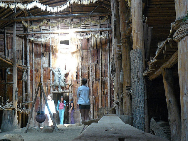 Inside a Haudenosaunee Long House by Canadian Pacific, via Flickr