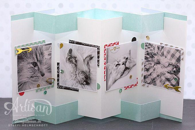 Minialbum - Leporello - Stampin'Up! - Artisan Designteam - Rico norwegischer Waldkater - Momente wie diese ❤︎ Stempelwiese