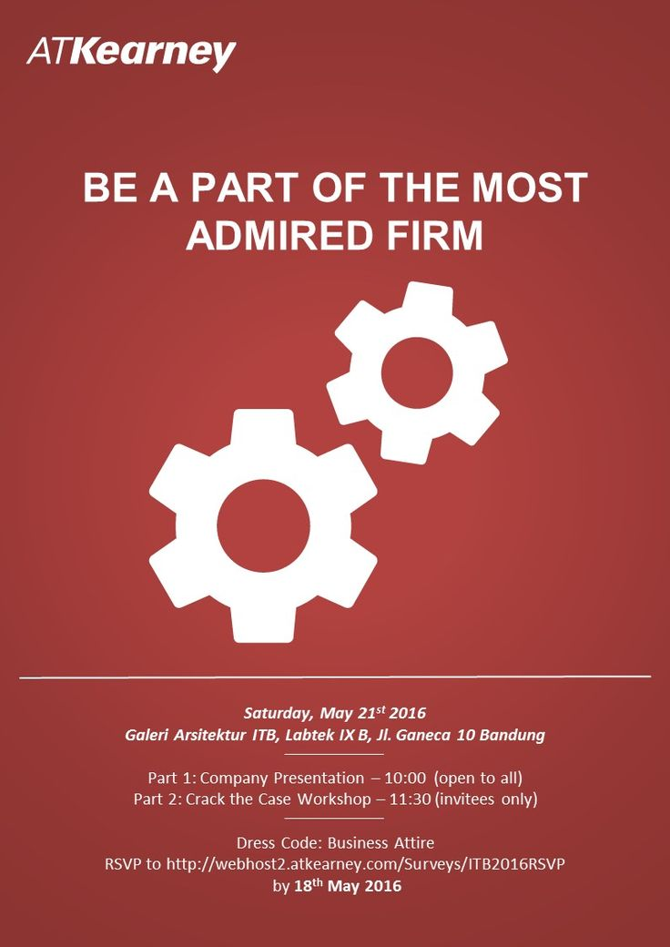 JOIN! A.T. Kearney: Info Session to learn more about Research Analyst Program  on Saturday, 21st May 2016, 10am at Galeri Arsitektur ITB, Labtek IX B. Info >> http://bit.ly/1WXvqVw #itbcc