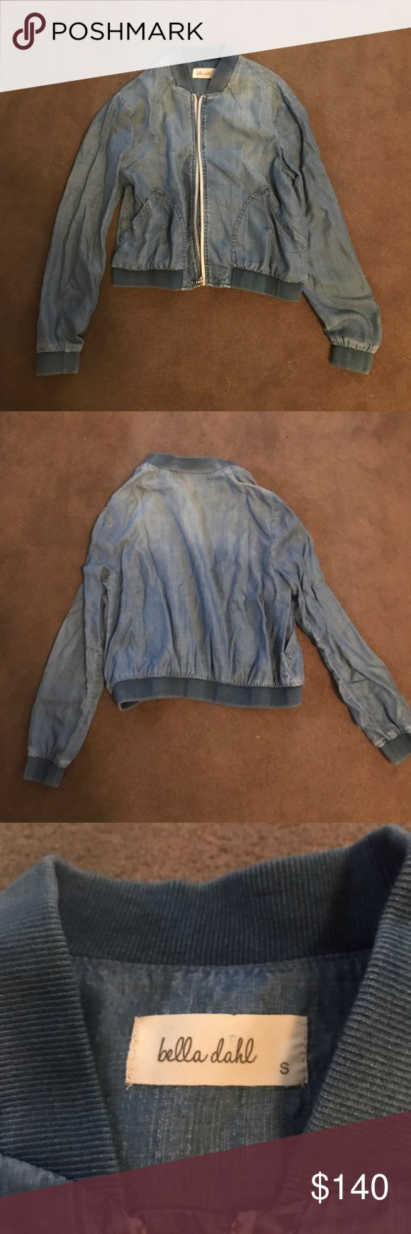 Della Dahl light denim zip up jacket Never worn. Very comfy. Very light. Great for spring and summer! Bella Dahl Jackets & Coats