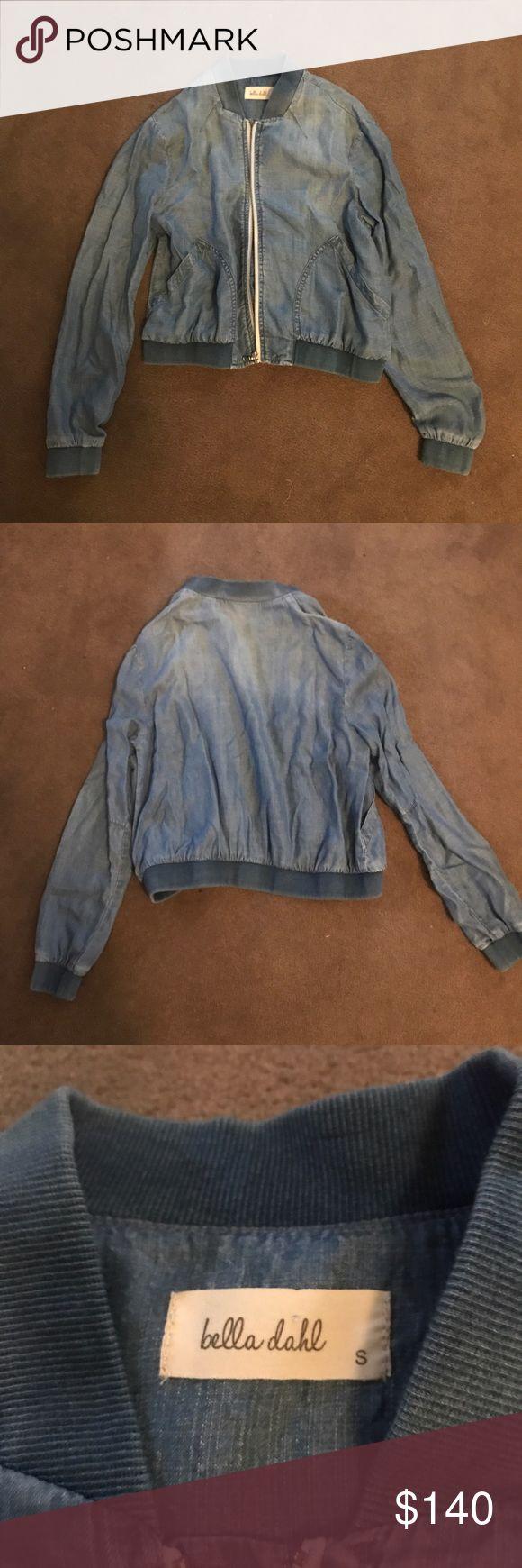 Della Dahl light denim zip up jacket Never worn. Very comfy. Very light. Great for spring and summer! Bella Dahl Jackets & Coats
