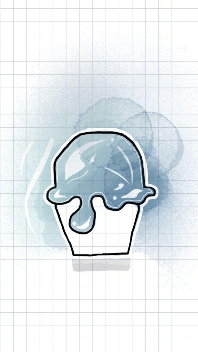 Tayasui sketches, watercolor, watercolor idea, cupcake, blue
