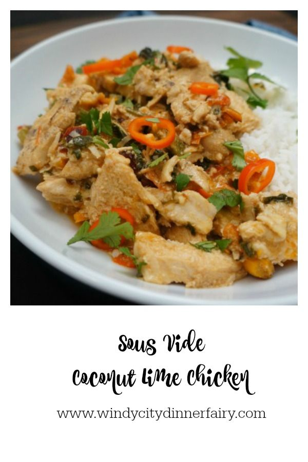 Sous Vide Coconut Lime Chicken Recipe On The Menu Chicken