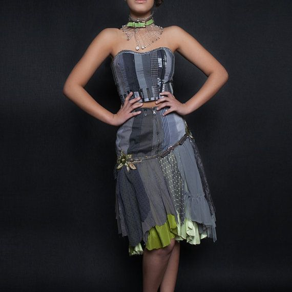 upcycled clothing . bustier . freedom fighter on Etsy, $178.00 CAD