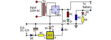Low Cost Phone Battery Charger Circuit