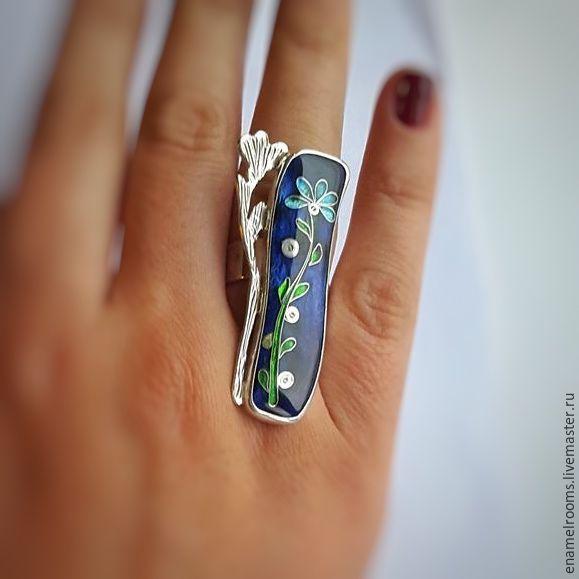 """Купить Кольцо """"Цветок"""" - Кулон ручной работы, серебро, серебро 925 пробы, серебряные украшения"""