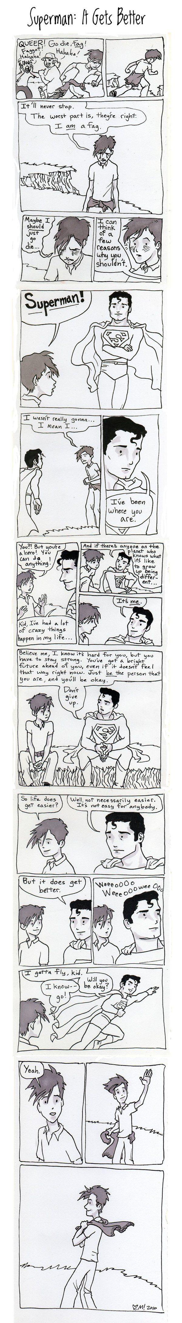 Superman: It Gets Better by Magzdilla.deviantart.com on @deviantART