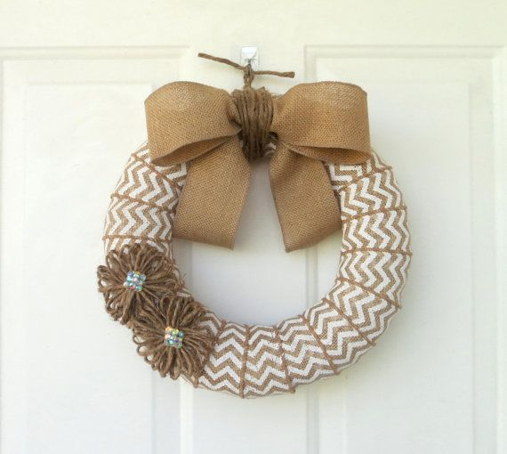 They're back by popular demand! It's been awhile, but White Chevron Wreaths are available again in our Etsy Shop! Stop by and like us on Facebook for a coupon code. Discount is good thru Sunday, October 6th. Chevron Burlap Wreath by WeddingsAndWreaths