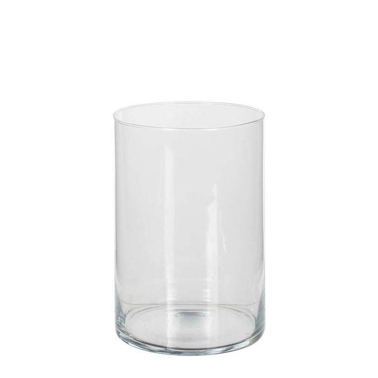 Vase Cylindrique en Verre   H 20 cm