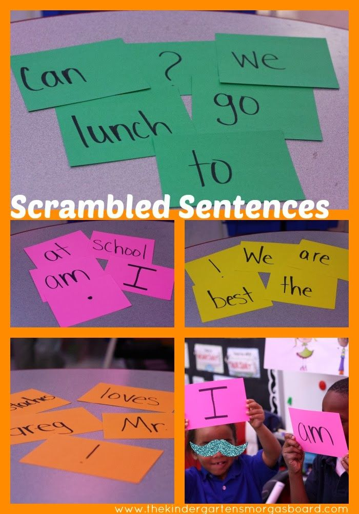 Building sentences during your morning meeting.  Meet common core and get students moving!