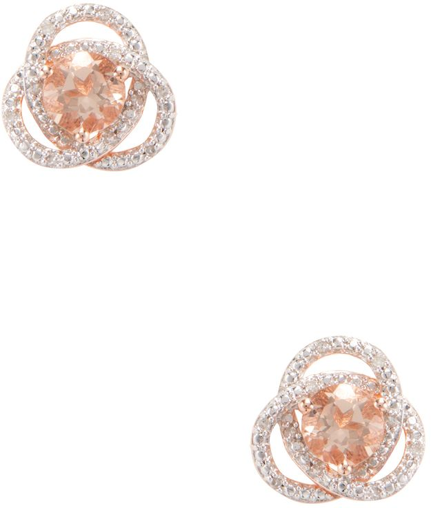 Rina Limor Fine Jewelry Women's Morganite & 0.08 Total Ct. Diamond Infinity Earrings