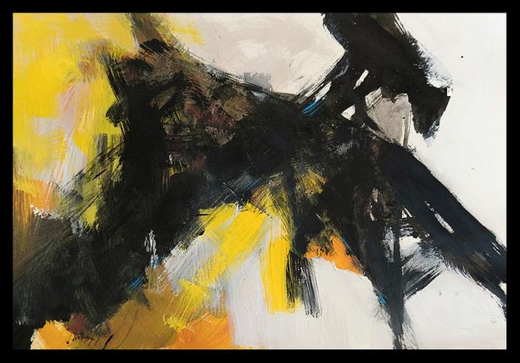 Abstract Original oil on paper by Michael Schofield