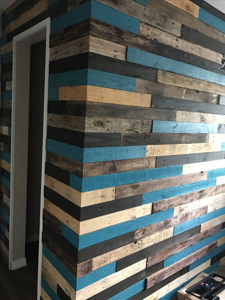 Pallet wall complete  Pallets  Pallet walls Plank