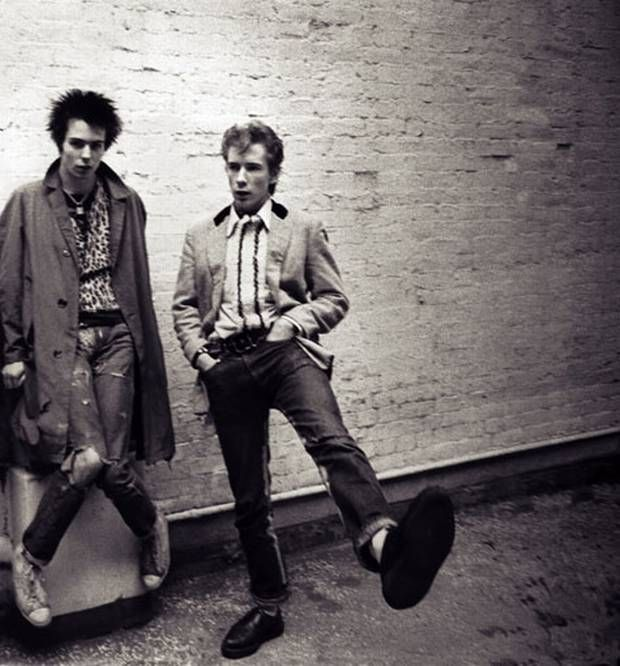 Hanging out with Johnny Rotten (on the right), by Adrian Boot - The Independent