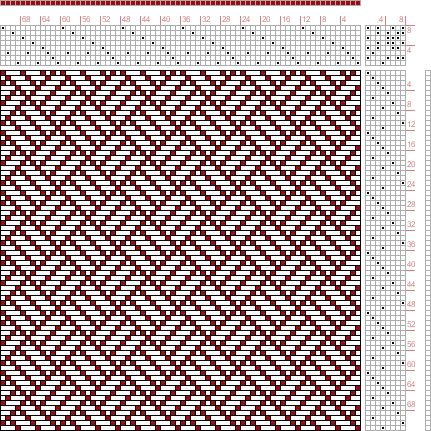 Hand Weaving Draft: Forward, Figure 193, Donat, Franz Large Book of Textile Patterns, 8S, 8T - Handweaving.net Hand Weaving and Draft Archive