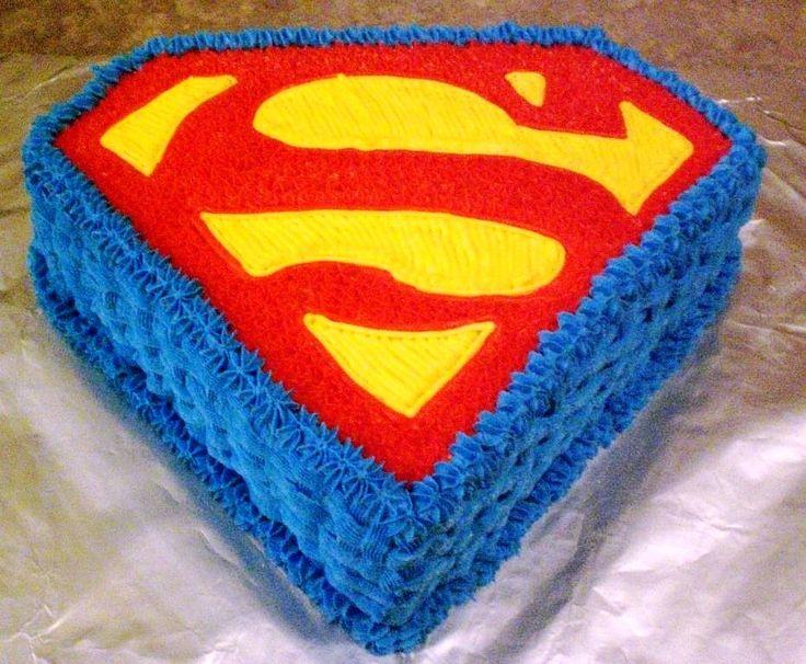 The 25 best superman cakes ideas on pinterest superman for Superman logo template for cake