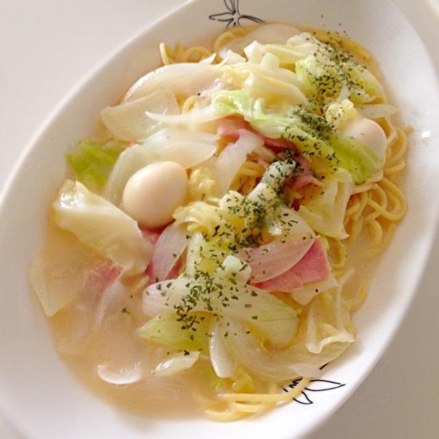 残り野菜をバンバン入れやした~^o^ - 117件のもぐもぐ - クリームスープスパゲティ♪ by supiruba
