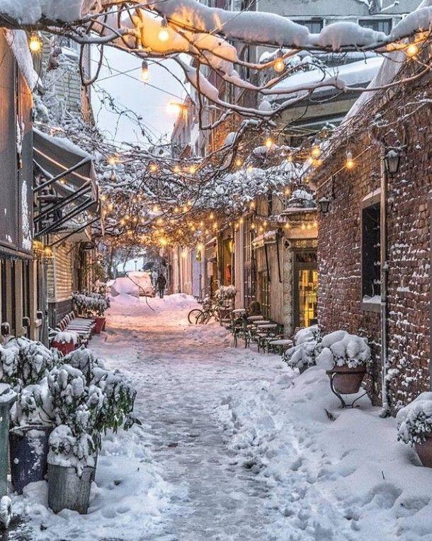 Village In Winter. – Chevallier