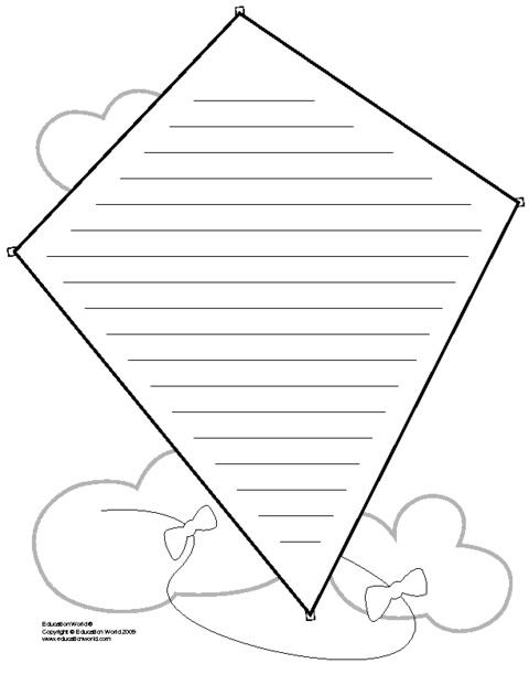 May Bulletin Board - kite writing