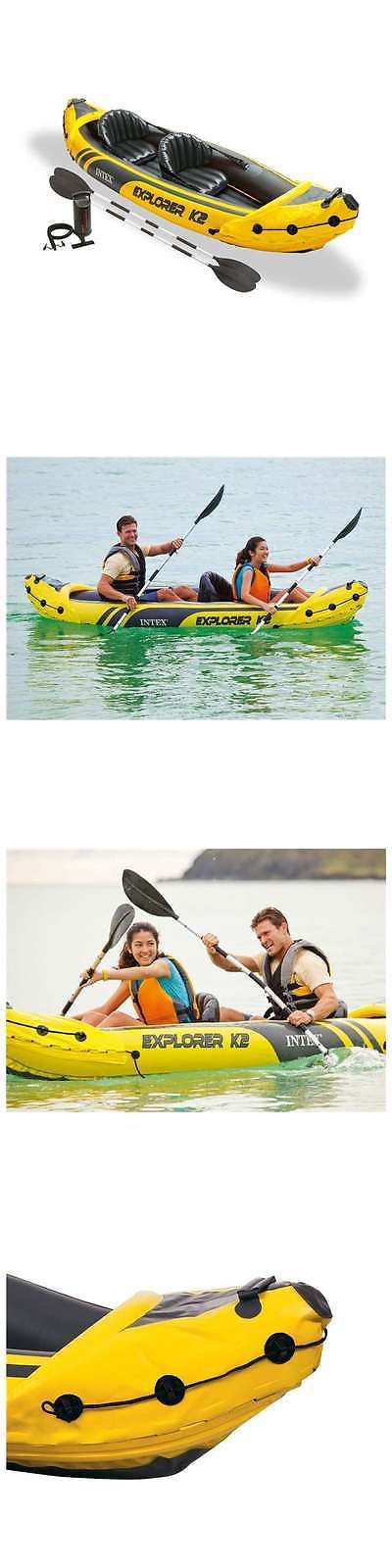 Kayaks 36122: Intex Explorer K2 2-Person Inflatable Kayak Set 68307Ep -> BUY IT NOW ONLY: $79 on eBay!