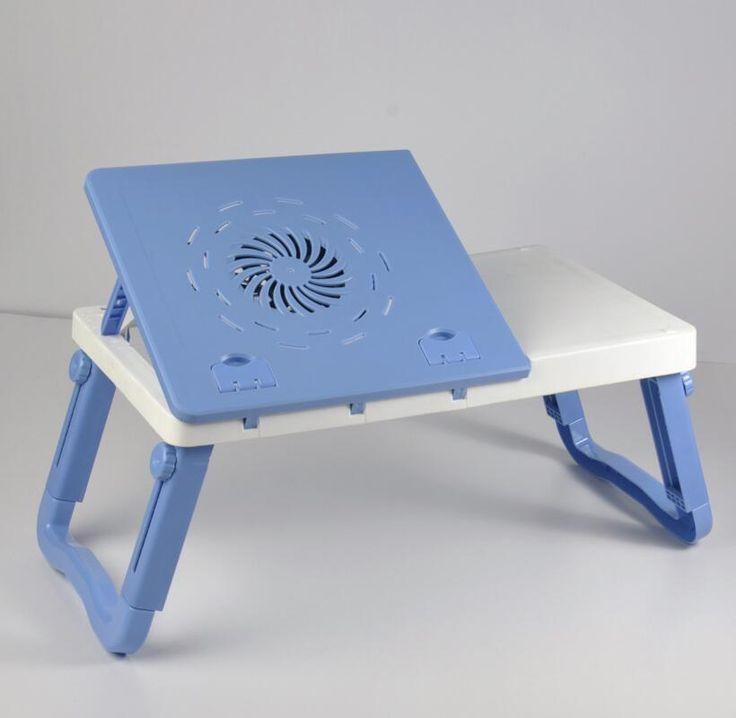 Lipat plastik Meja Sofa Kantor Berdiri Meja Laptop Meja Komputer Dengan Cooler Pad Meja Lap Dengan Dingin Pad SY22D5