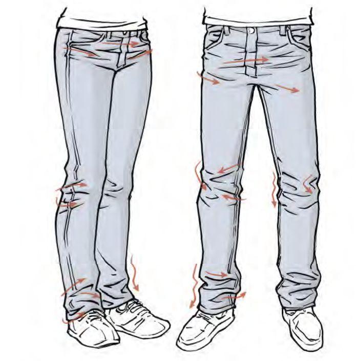 Resultado de imagem para how to draw jeans folds