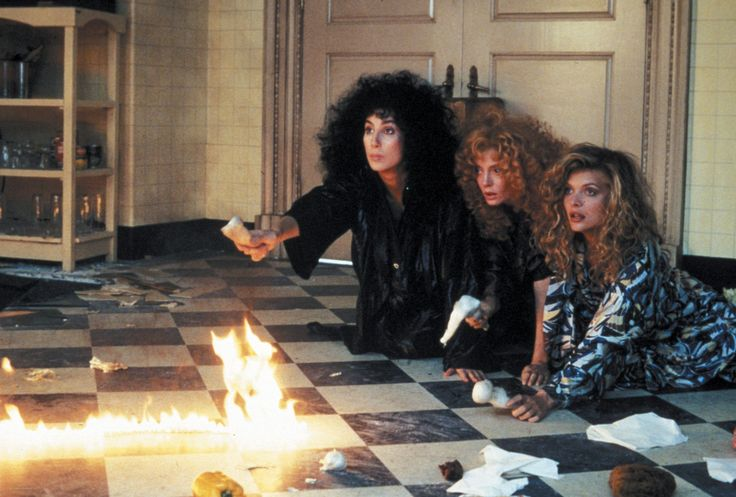"""""""The Witches of Eastwick"""" with Cher, Susan Sarandon, and Michelle Pfeiffer"""