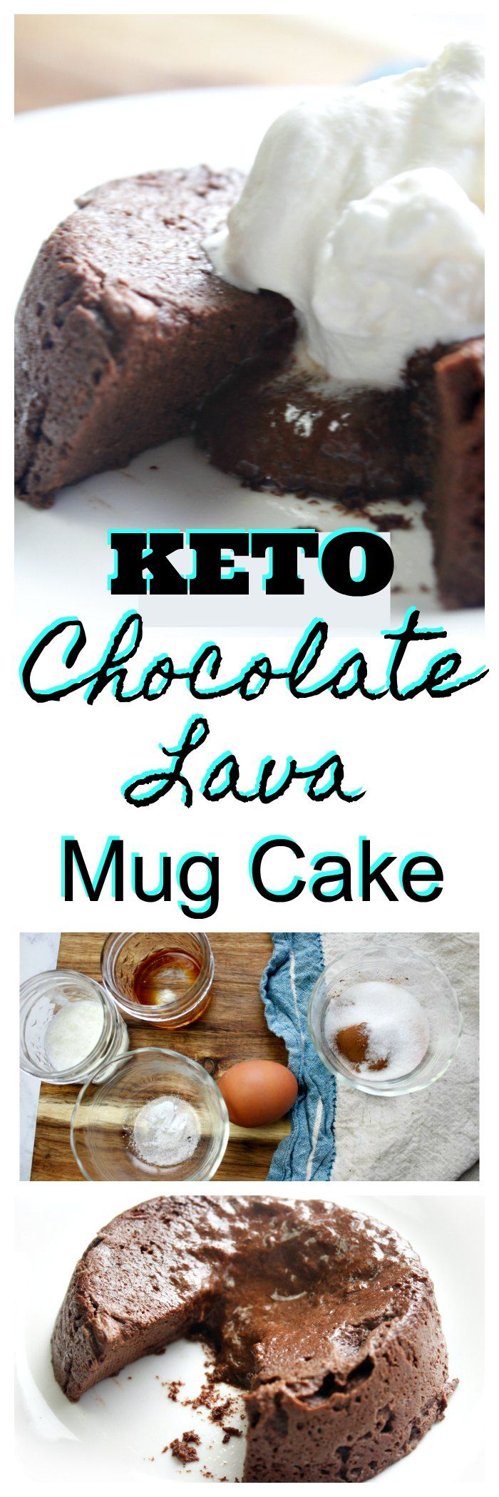 Keto Chocolate Lava Mug Cake Recipe via @isavea2z
