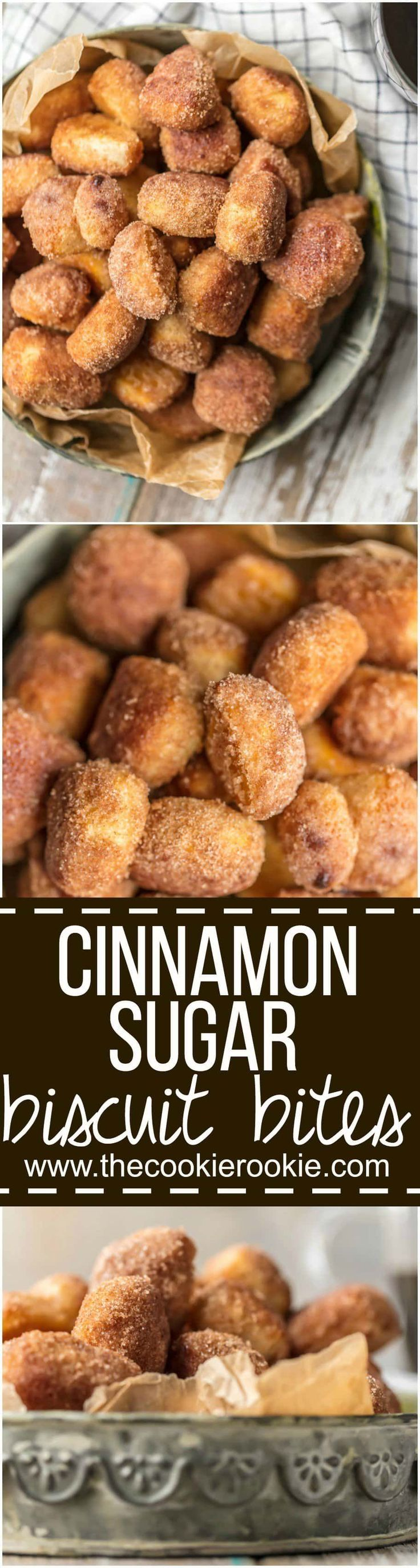 These CRISPY CINNAMON SUGAR BISCUIT BITES are the perfect breakfast, dessert, or snack for any time of day! Easy, delicious, and so fun. Making a homemade treat just doesn't get simpler than these tasty bites! via @beckygallhardin