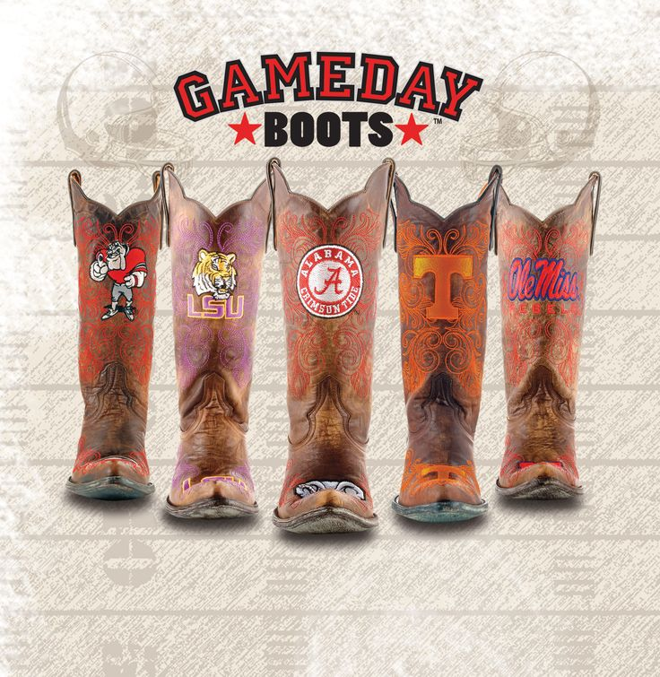 Belk has Gameday Boots for most SEC and ACC teams. Opening weekend! #UGAFootball #ClemsonFootball #GATechFootball