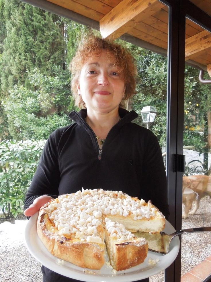 special cake at Fattoria del Colle...taste it!