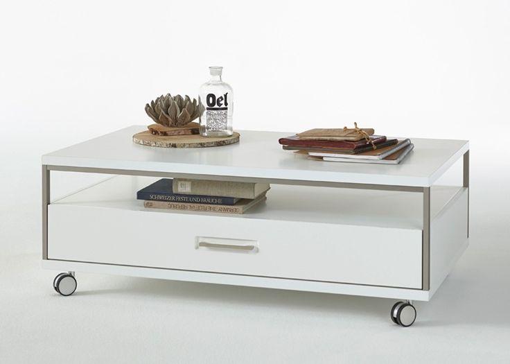 Couchtisch Trento Weiss Hochglanz Mit Grau 20701 Buy Now At