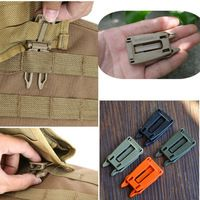 10pcs/lot Molle Strap EDC Backpack Bag Webbing Connecting Buckle Clip 25mm