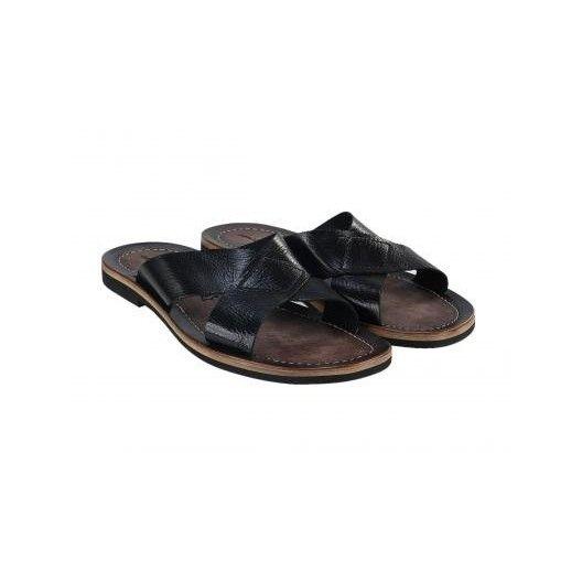 Pánske kožené sandále čierne PT117 - manozo.hu