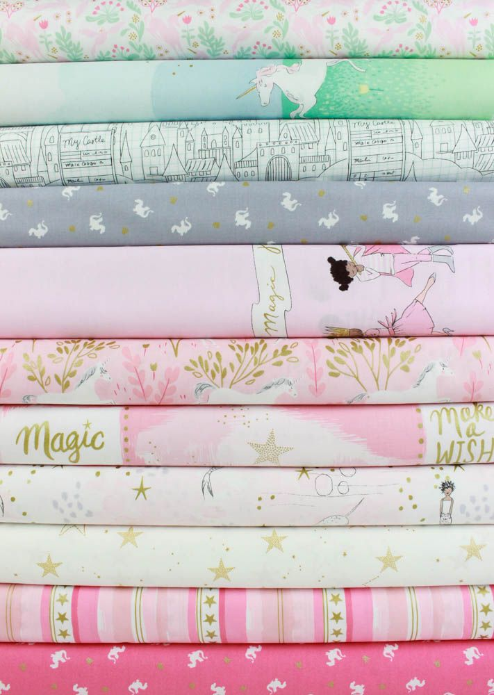 Sarah Jane for Michael Miller, Magic!, Pink in FAT QUARTERS 11 Total