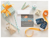 """ocean themed, orange and aqua baby shower. they had a """"baby pool"""" where guests gave $2-5 and guessed baby's birthday, birth time, weight, length. Whoever was closest won a $10 gift card, and the rest of the money went towards buying the new parents dinner! How fun."""