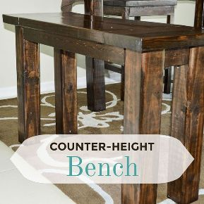 diy counter height bench, diy, how to, painted furniture, woodworking projects