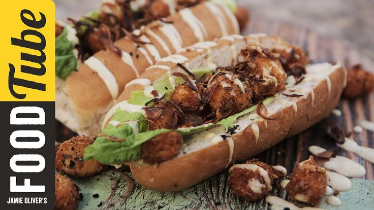 Today, Food Busker is feeding SB.TV's very own Jamal Edwards with a super gnarly sandwich. A scallop Po'Boy sub, straight from Jamal's food hell... but will ...