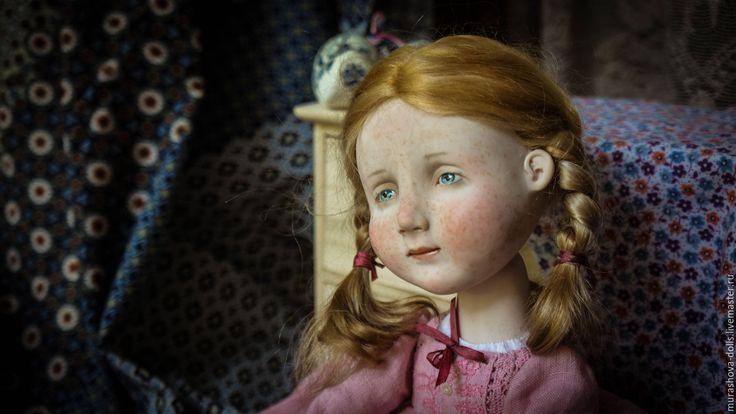 Купить Рыжая в розовом - розовый, болтушка, авторская кукла, любить и жаловать, веснушки, living doll