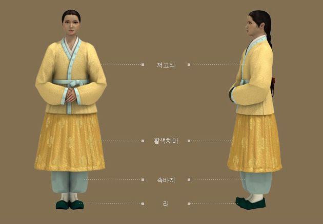 Goryeo Dynasty(AD918-1392) Korean traditional clothes #hanbok 고려도경' 근거 소녀 복식 - 문화콘텐츠닷컴