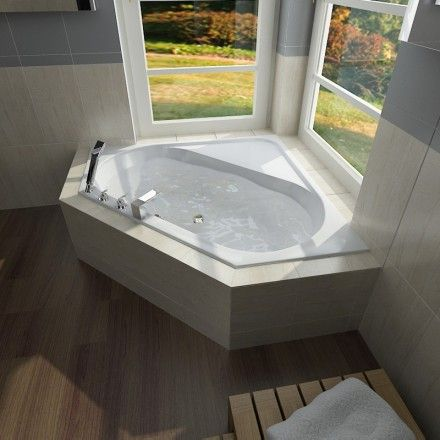 Meer dan 1000 idee n over baignoire d angle op pinterest for Carrelage baignoire d angle