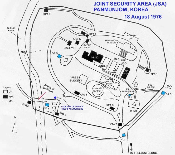 Joint Security Area 1976 map - Bridge of No Return -