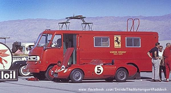 N.A.R.T. ferrari race car transporter.                                                                                                                                                                                 Plus