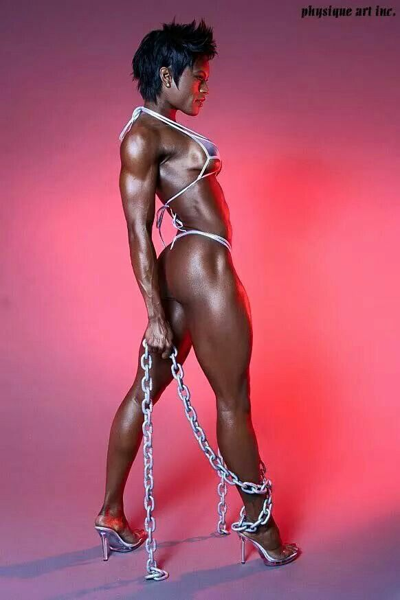 This is Natalie Benson. She is a competitive body builder. Powerful, regimented and fierce. :-D