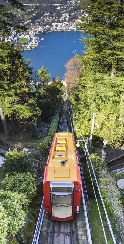 Brunate Tram in Lake Como, Lombardy