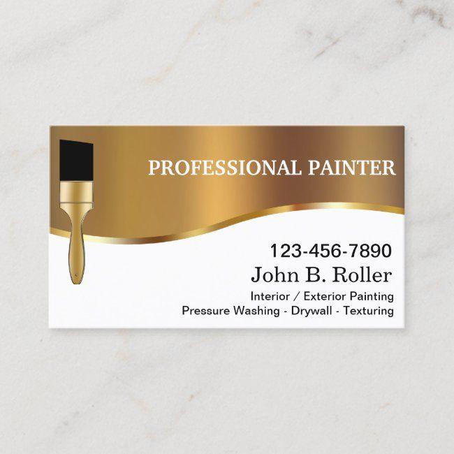 Painter Business Cards Zazzle Com Cartao De Visita Visita Carta