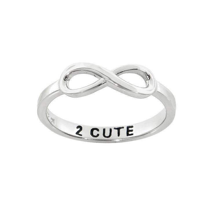 Eternally Haute Sterling Silver 2 Cute Infinity Band - Overstock™ Shopping - Big Discounts on Eternally Haute Fashion Rings