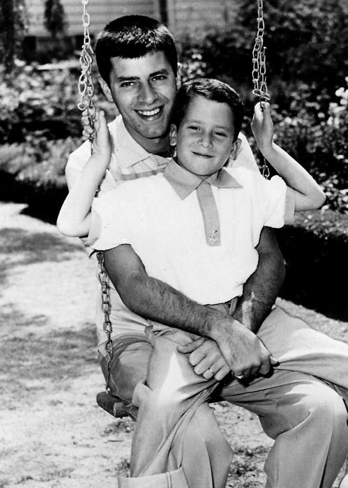 Jerry Lewis with his oldest son Gary - ca 1954....remember Gary Lewis and The Playboys?